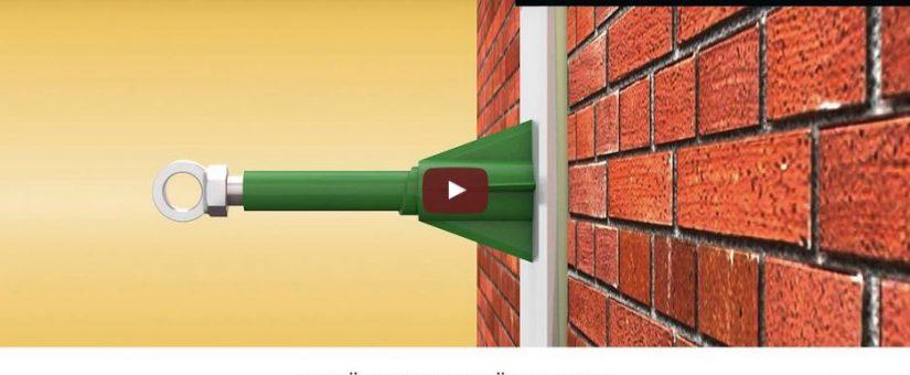 Gerüstbauer sind begeistert, wenn sie dieses Teil an einer Fassade entdecken