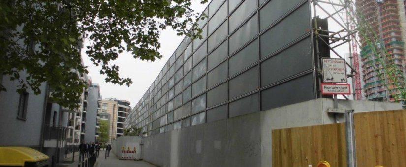 Frankfurts neue Skyline – Lärmschutzwand für Eden und Spin Tower