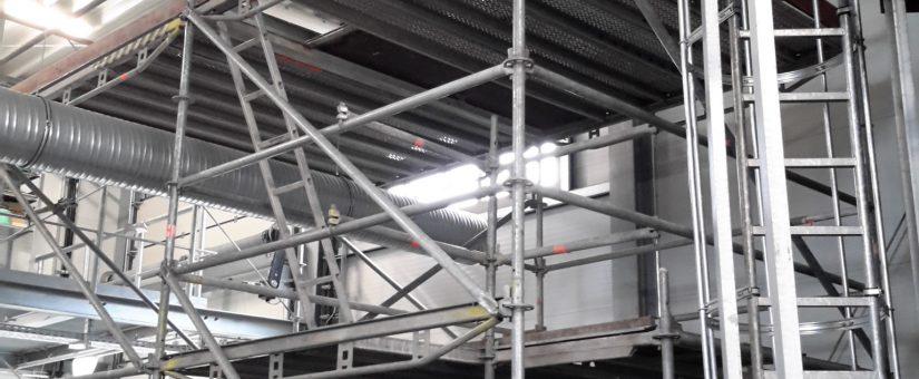 Zurück bei Danone in Fulda: Montage neuer Kabel
