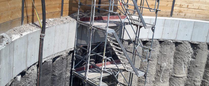 Herausforderung Materialtransport – In 30 m Tiefe zur Friesenheimer Insel